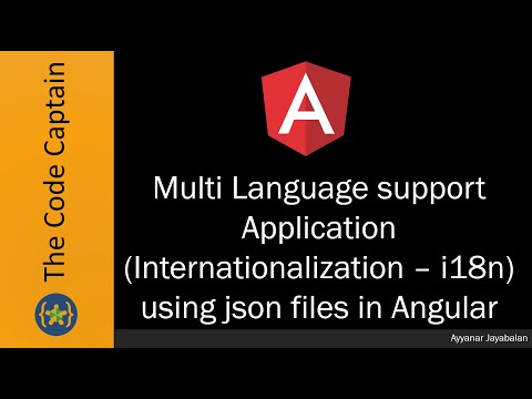 Multi Language Support Application (Internationalization – I18n) Using Json Files In Angular