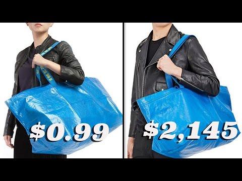 Ikea vs. Balenciaga s Tote Bag - YouTube 4b05524c6c402