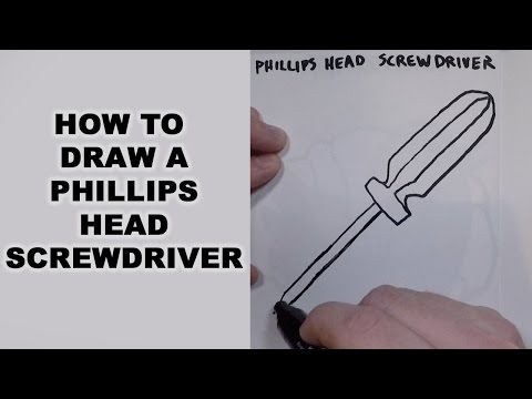 How to Draw a Phillips Head Screwdriver