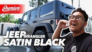 Jeep or G-Wagon? Satin Black Vinyl Wrap   JEEP PROJECT PART 2