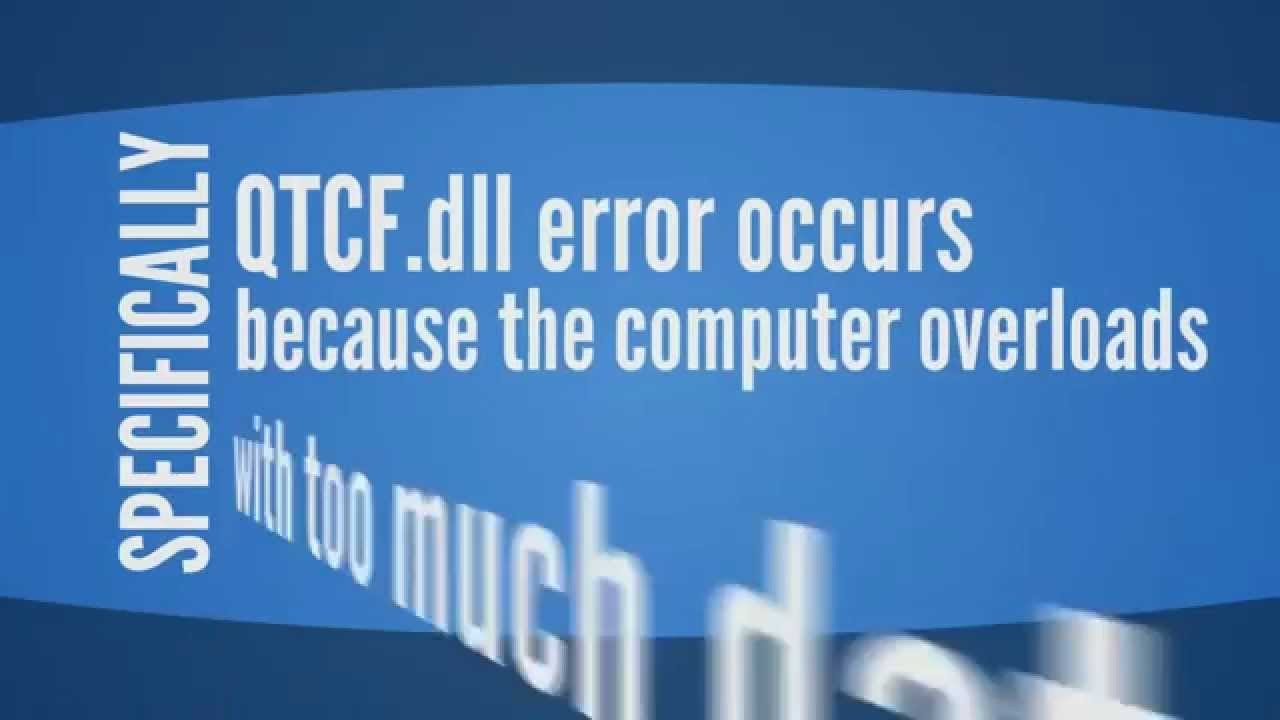 How to Easily Fix QTCF.dll Error - YouTube