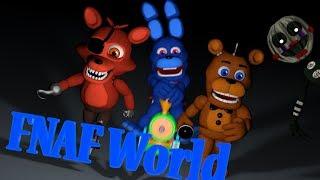 [Fnaf World анимация] - жизнь аниматроников:) №1