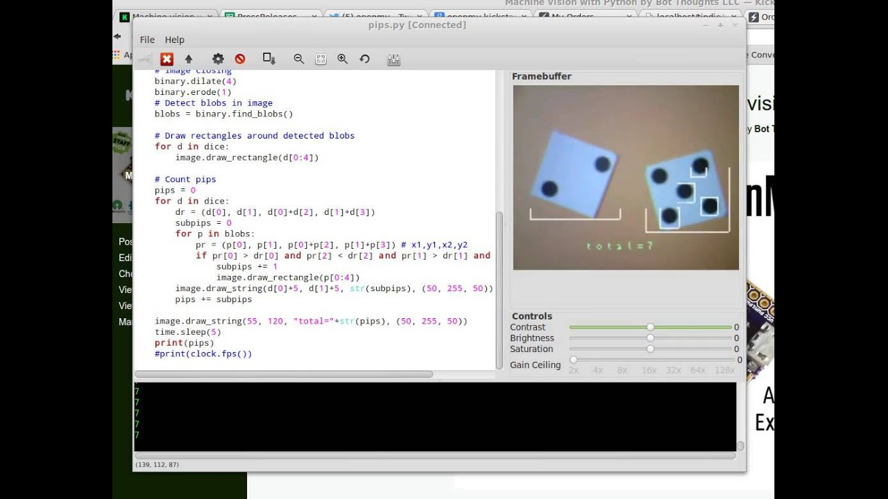 Dice count with OpenMV Cam - - vimore org