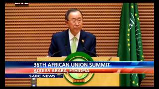 un sg ban ki moon address 26th au summit