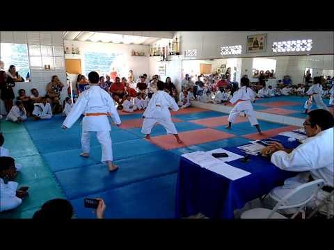 Exame de Faixa Laranja p Verde Karatê Shotokan