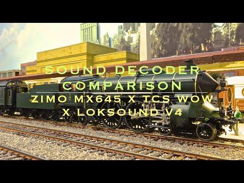 Custom installs decoder comparison: Zimo Mx 645 x Loksound V4 x TCS Wow  S 2/6, 232.U.1)