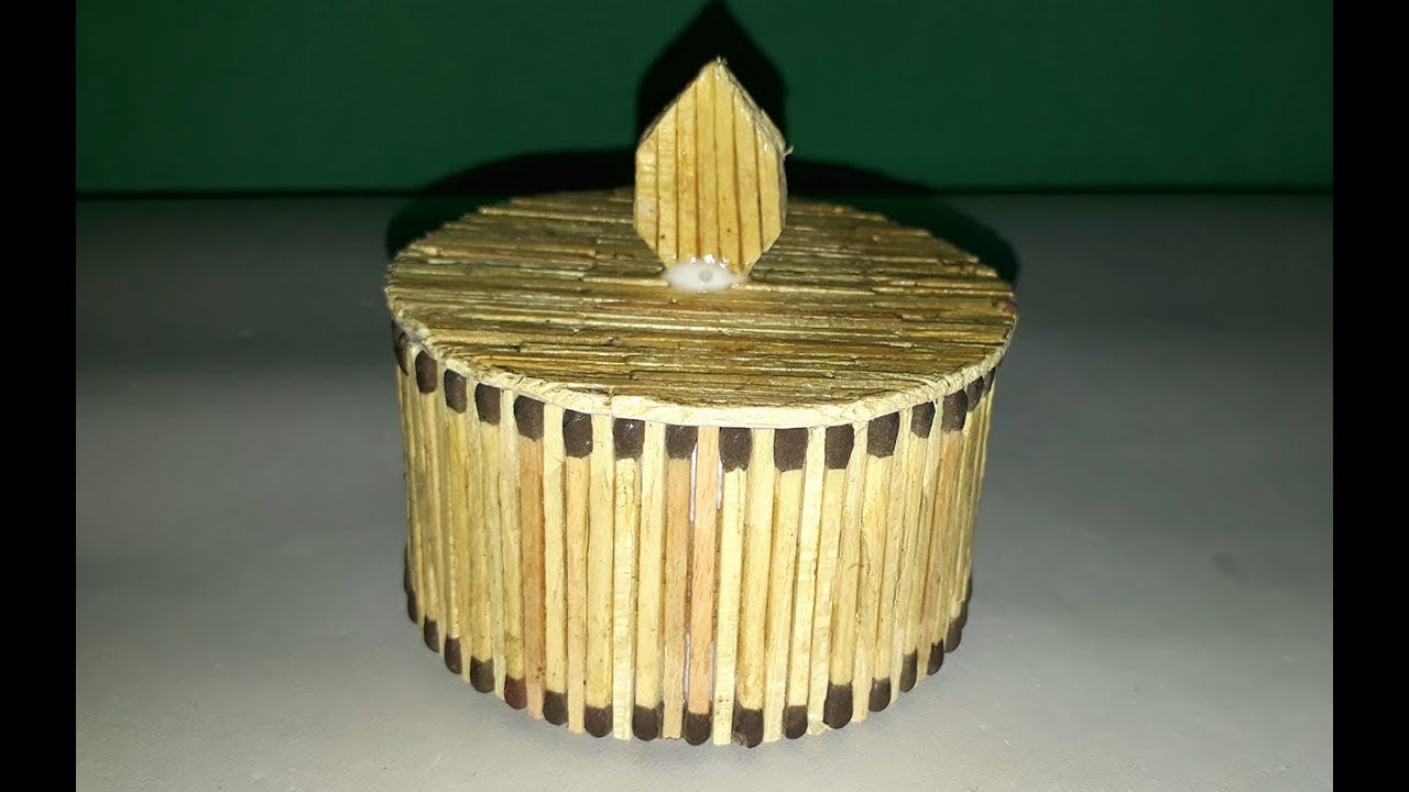 Matchstick Art How To Make Jewelry Box Useing Matchstick Easy