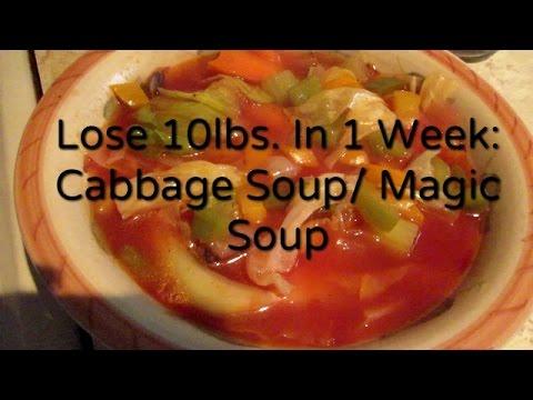 Lose 10 Lbs In 1 Week: Cabbage Soup Diet/Recipe