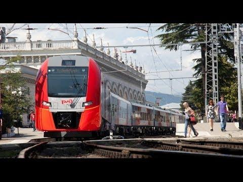 Поездка Сочи-Красная Поляна на Ласточке Trip Of Sochi-Krasnaya Polyana By Train Siemens