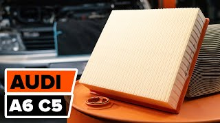 AUDI A6 Variklio oro filtras keitimas: instrukcija