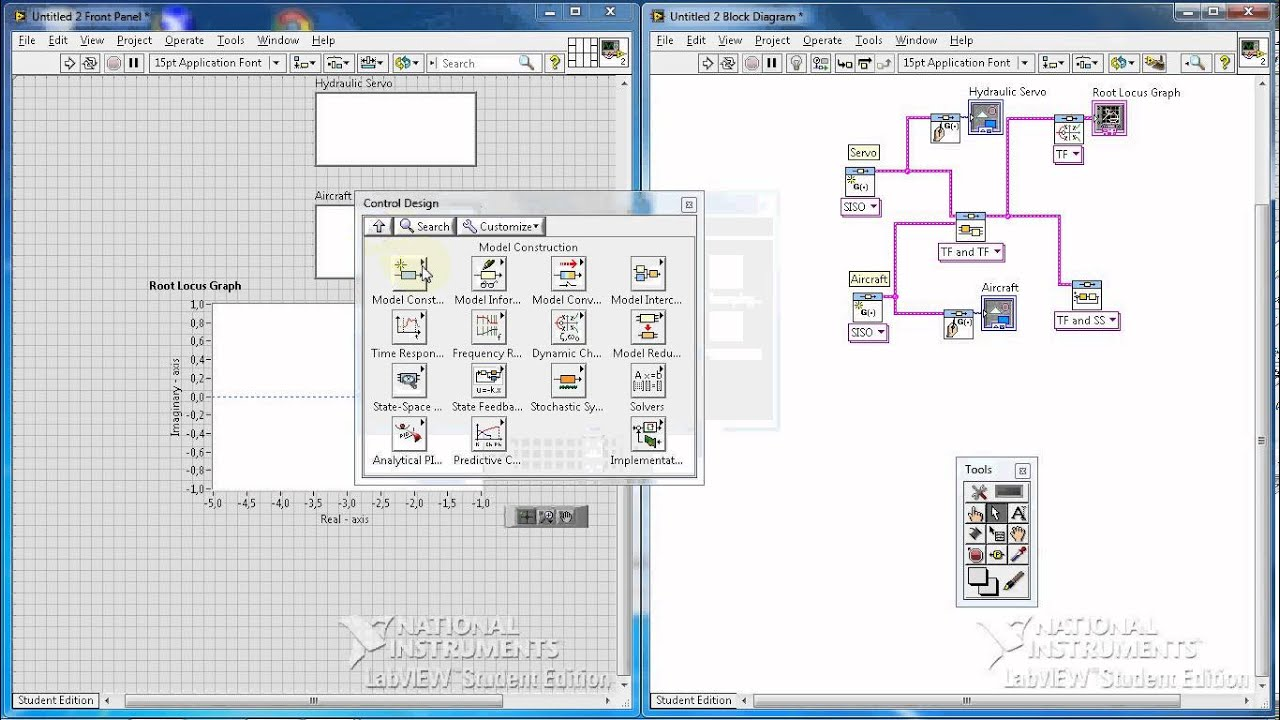 labview tutorial 13 example vii root locus and step response part 2 3 [ 1280 x 720 Pixel ]