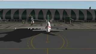 X-Plane 10- Landing Emirates Airbus A380 in Dubai