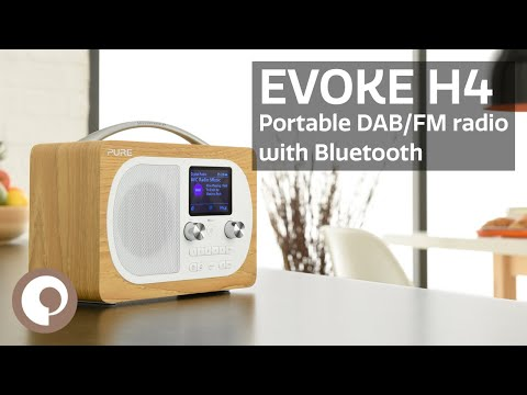 Pure Evoke H4 - Portable DAB and FM radio with Bluetooth