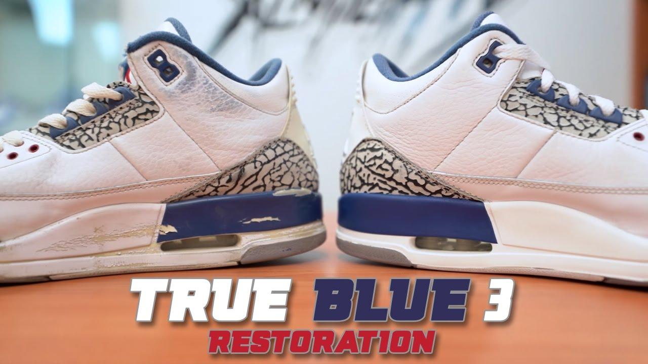 71950504b093 Restorations with Vick - 2011 Jordan True Blue 3 Restoration - YouTube