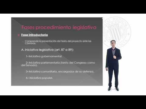 La función legislativa de las Cortes Generales.© UPV