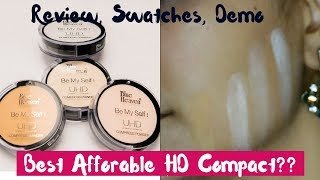 ₹125/- Blue Heaven UHD Compact   Review, Demo and Swatches   All 4 Shades   Best Affordable Compact