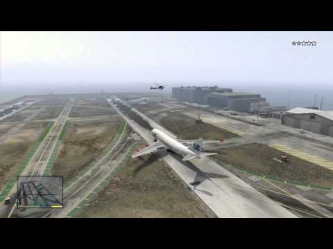 GTA 5 V XBOX 360 Airport BOEING 747 ULTIMATE FAIL COMPILATION