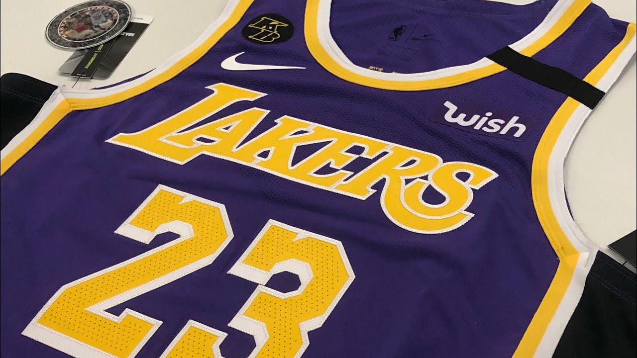 Lakers Kobe Patch LeBron James Nike NBA Jersey Review