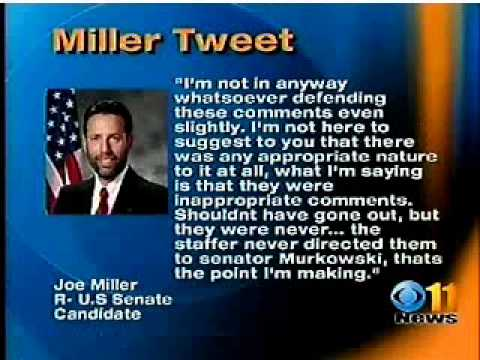 Joe Miller Calls Senator Lisa Murkowski a Whore?