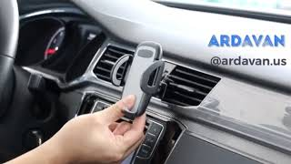 ArdaVan Anti Slip Universal 360 Degree Rotation Car Air Vent Mobile Phone Holder