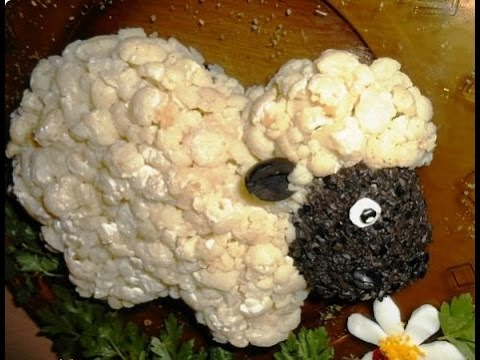 как приготовить салат овечка пошагово с фото