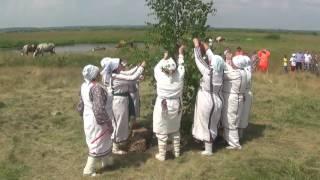 Реконструкция древнего мордовского моления ОЗКСА о сенокосе луга лангса васедемат