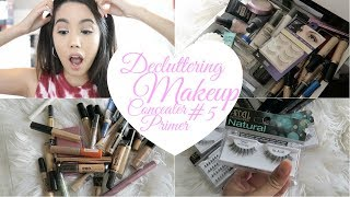 DECLUTTER MY MAKEUP COLLECTION + GIVEAWAY 2017! EPISODE #5 PRIMERS AND CONCEALER