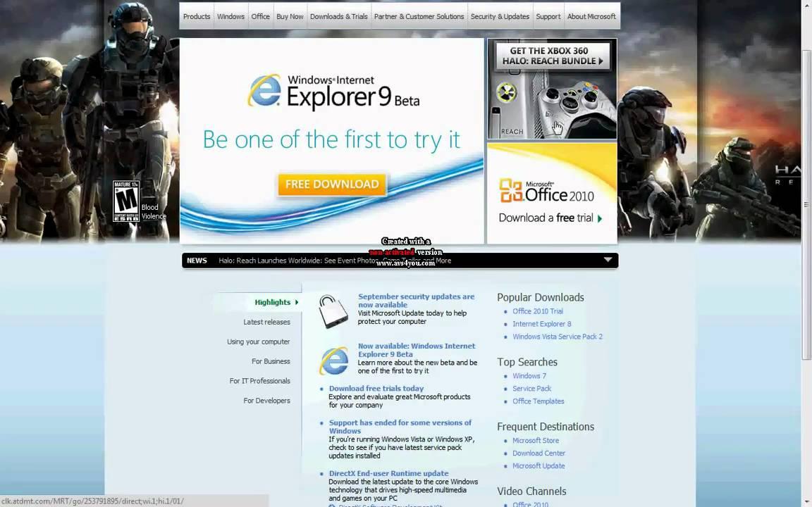 Microsoft internet explorer 9 free download youtube.