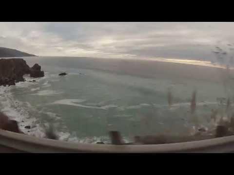 Big Sur, driving clip ocean view
