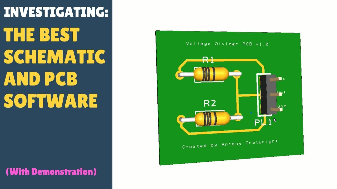 INVESTIGATING: The Best Schematic PCB Software (EasyEda, Fritzing,  DesignSpark) With Demonstration