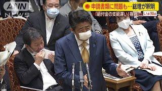 """""""給付金遅い""""批判に総理釈明・・・申請書類に問題も(20/06/15)"""