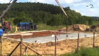 vuclip DPDG płyta fundamentowa, wylewanie betonu