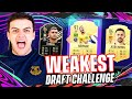 I WON A FUT DRAFT WITH THE WEAKEST POSSIBLE TEAM ON FIFA 21!!