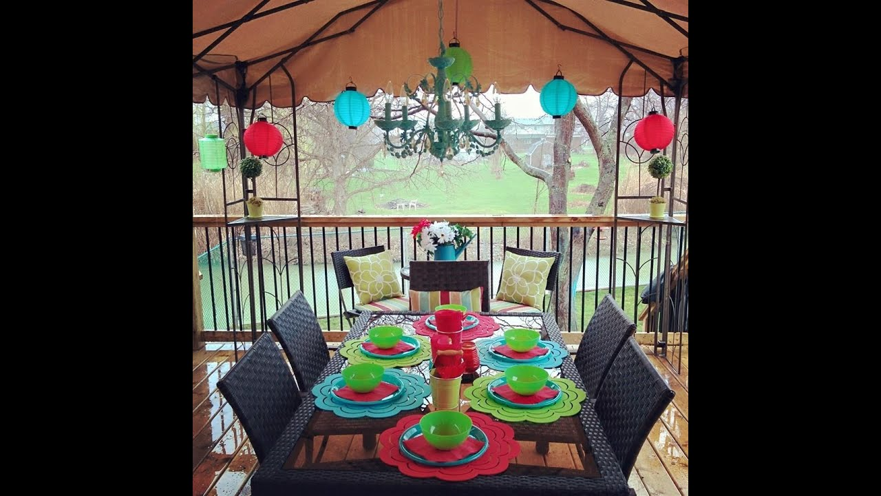 Decorate your backyard on a budget with dollar store finds for Outdoor patio decorating ideas on a budget