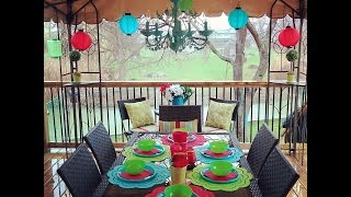 Decorate your Backyard on a Budget with Dollar Store finds