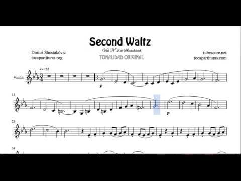 Second Waltz by Shostakovich Sheet Music for Violin