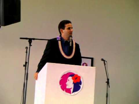 Lt. Governor Brian Schatz at Hawaiian Air Inauguration