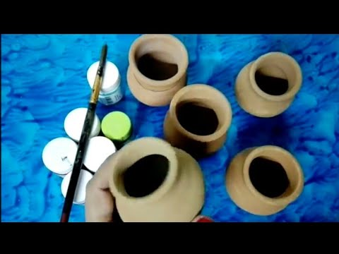 Pot Painting - 5 easy ways to paint pots and decorate
