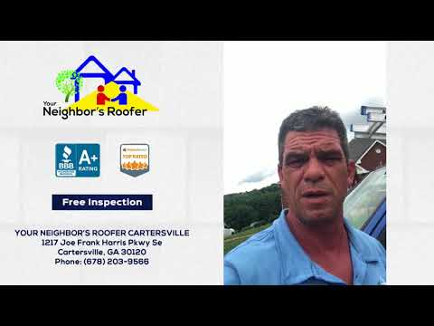 August 6, 2018 - Jerry of Your Neighbor's Roofer Discusses Cartersville GA Roof Repair