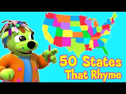 50 States That Rhyme  Song With Lyrics  USA  Raggs Tv
