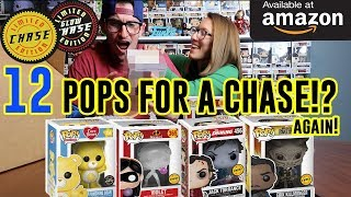 Unboxing 12 Funko Pops for a CHASE - Round 2!!