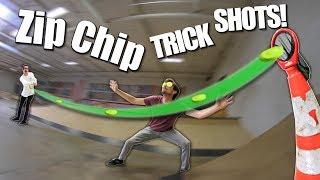 CRAZY MINI FRISBEE TRICK SHOTS!   Zip Chips