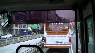 台北聯営公車 台北客運 307線 往板橋 (台北連営バス 307線 板橋行き)