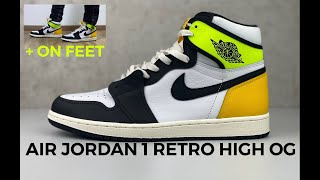 Nike AIR JORDAN 1 Retro High OG 'volt' | UNBOXING & ON FEET | fashion sneaker | 2021