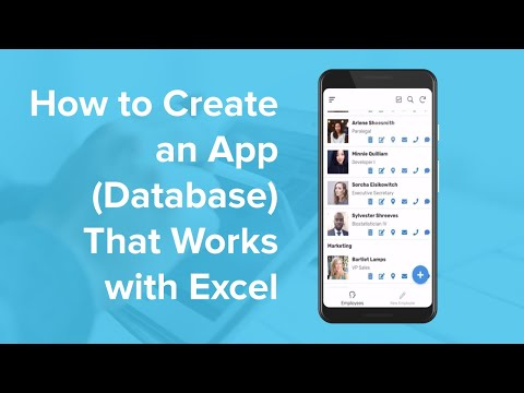 How To Create An App (Database) That Works With Excel