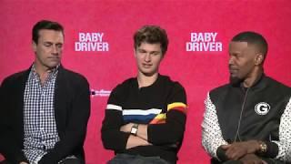 Baby Driver - Cast Interviews - Ansel Elgort, Lily James, Jamie Foxx, Jon Hamm and Eiza Gonzales