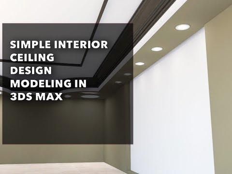 Interior ceiling design in 3ds max