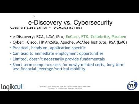 Emerging Career Paths for E-Discovery and Cybersecurity Professionals