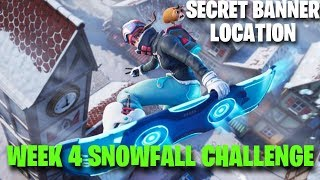 Week 4 Secret Banner Location | Loading Screen #4 | Snowfall challenge | Fortnite Battle Royale