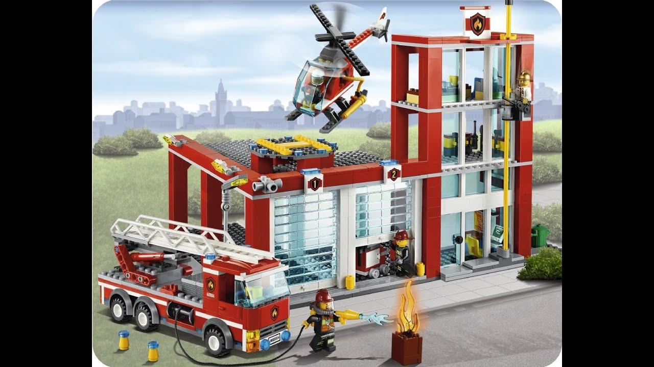 lego city la caserne des pompiers - Lego City Pompier
